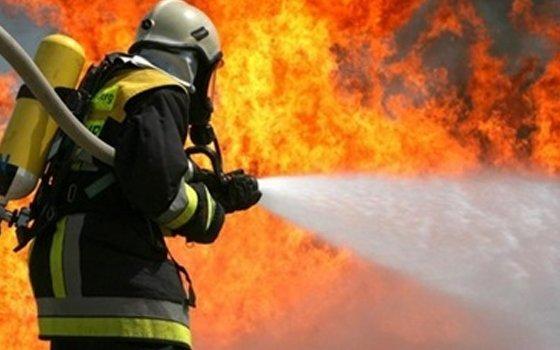 ВДуховщинском районе впламени умер мужчина