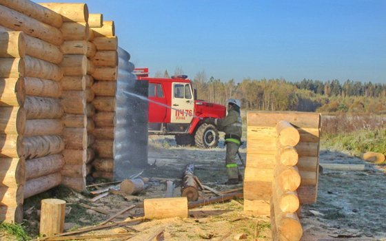 ВСмоленской области дотла сгорел дом