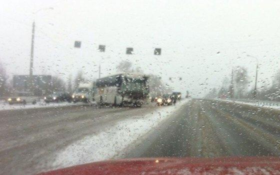 ВСафоновском районе автобус врезался вфуру