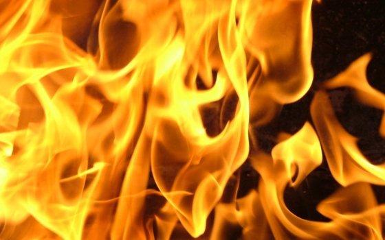 Гараж сгорел состоявшей внем «Калиной» вВязьме