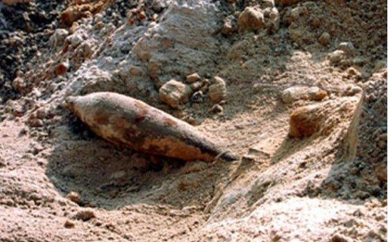 ВКардымовском районе прямо около опоры ЛЭП найден снаряд времен ВОВ