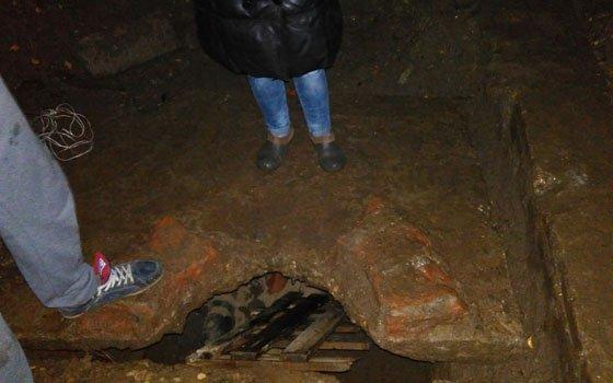 ВСмоленске коммунальщики убрали плиту, под которой были «замурованы» щенки