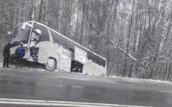 ВСмоленской области пострадали пассажиры автобуса Москва— Витебск