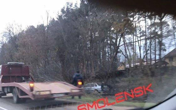 Легковой автомобиль вылетел в кювет в районе Нижней Дубровенки