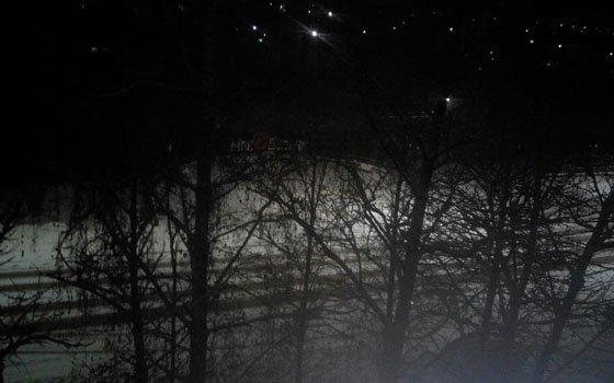 В Вязьме на недавно отремонтированной набережной пропало освещение