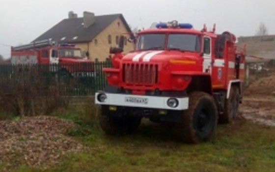 В поселке Ершичи случился пожар в жилом доме
