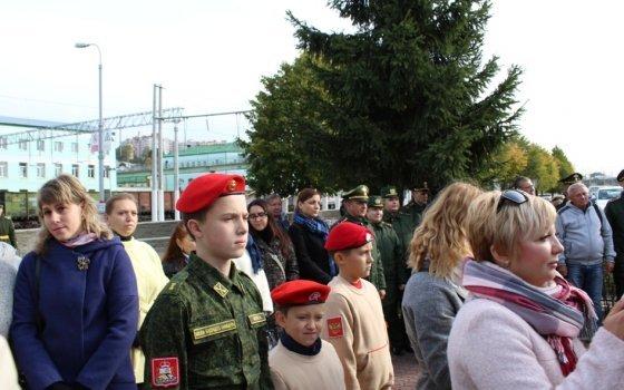 В Смоленске открылся памятник воинам-железнодорожникам