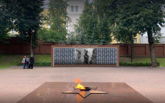 В Смоленске презентовали эскиз макета мемориального панно