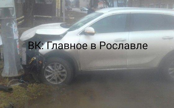 В Рославле из-за ДТП жители остались без горячей воды