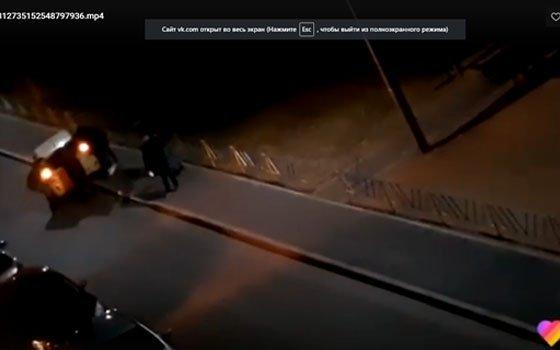 В Смоленске на Краснинском шоссе «наказали автохама»