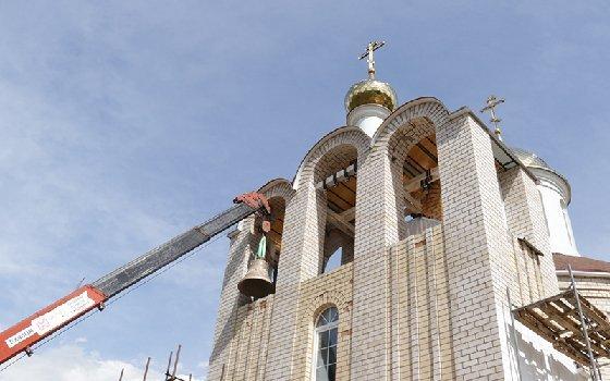 В Смоленской области святили колокола для церкви Вознесения Господня