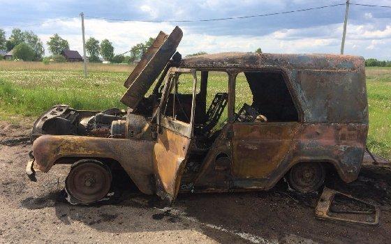 На смоленской дороге на ходу загорелась машина