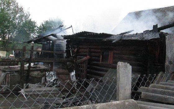 Из пожара в смоленской деревне спасли куриц