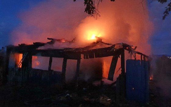 Хозяина дома госпитализировали после пожара под Вязьмой