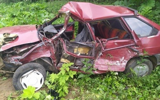 Водитель «ВАЗ 2109» получил травмы после ДТП в Сафоновском районе Смоленской области