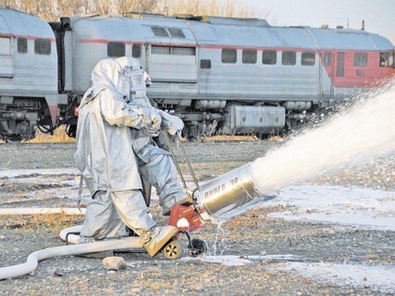 Пожарные поезда Смоленского региона МЖД переведены в режим повышенной готовности