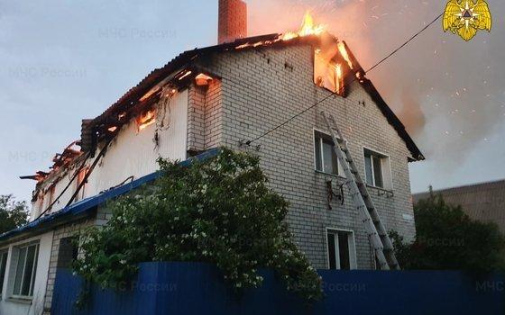 Два пожара случились в райцентре Смоленщины из-за грозы