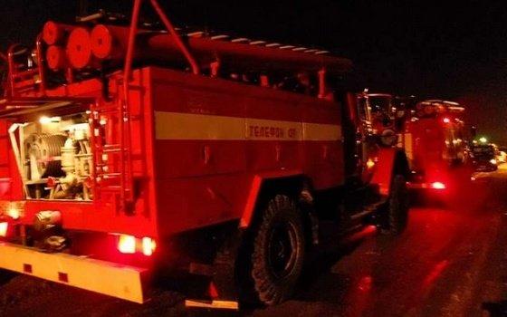 В деревне Лучеса Починковского района сгорел заброшенный телятник