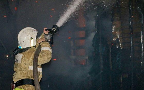 Рано утром в Рудне загорелся дом